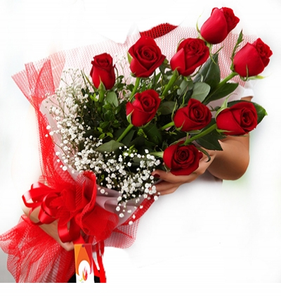flower delivery turkey 9 Red Roses Bouquet