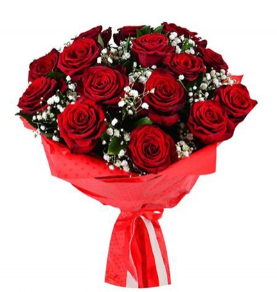 flower delivery turkey 15 red roses bouquet