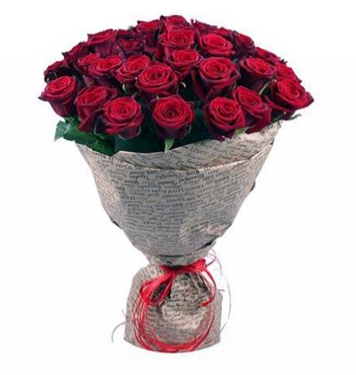 lilyum ve mevsim Çiçekleri 35 Kırmızı Gül Buketi