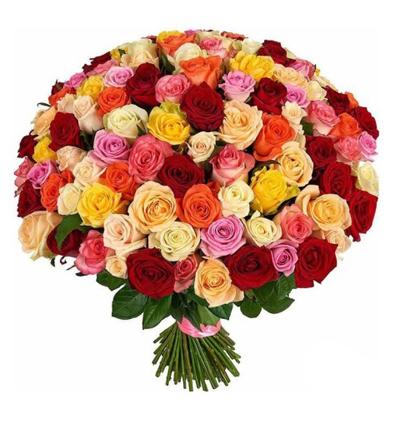 karma Çiçek buketi 101 Rengarenk Güller