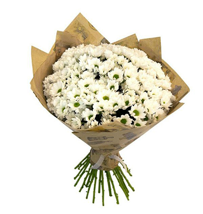 Çiçek Beyaz Krizantem Buketi