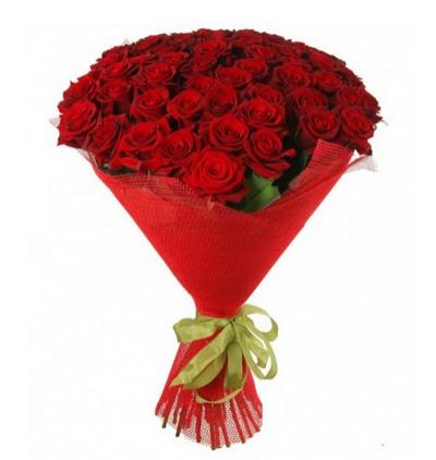 krizantem ve güller 41 Kırmızı Gül Buketi