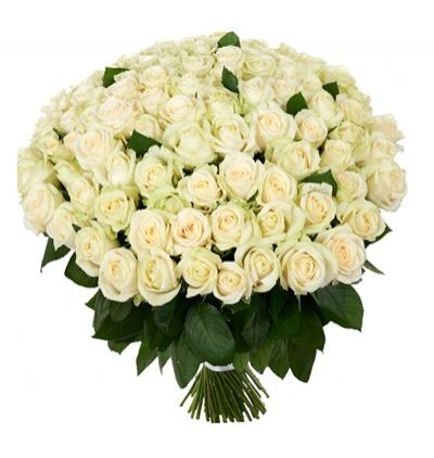 karma Çiçek buketi 101 Beyaz Gül Buketi