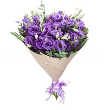 Çiçek Mor Lisyantus Buketi