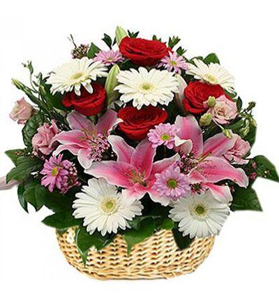 pembe lisyantus buketi Sepette Karma Çiçekler