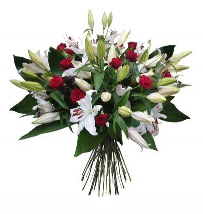 19 kırmızı gül buketi Lilyum ve Güllerden Buket