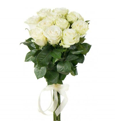 flower delivery turkey 11 White Roses Bouquet